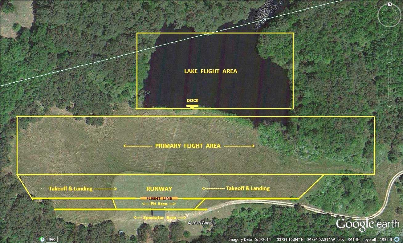 Fayette Flyers Main Field Flight Areas